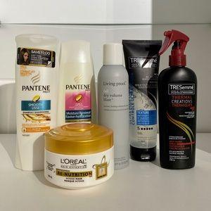 Living Proof, Pantene, Tresemmé Hair Products